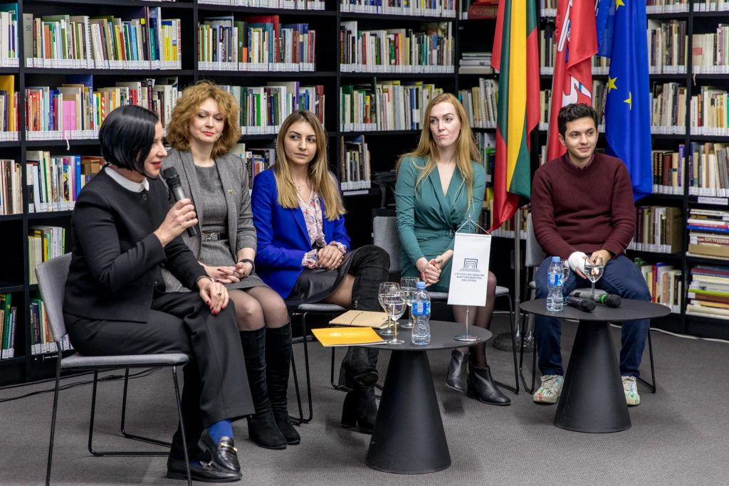 International students from Georgia, Turkey and Ukraine discuss their experiences in Lithuania
