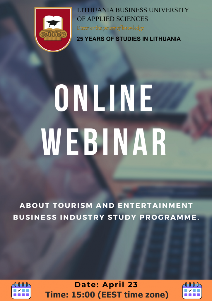 The flyer for the webinar online event