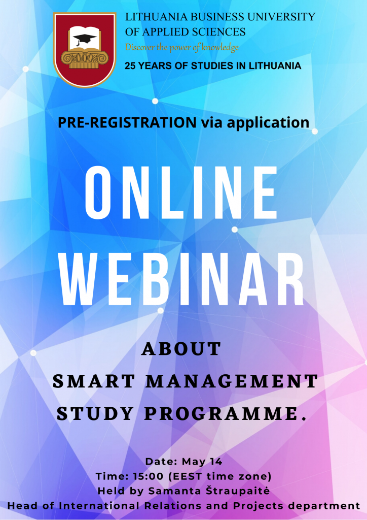 Poster of the webinar