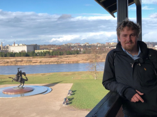 Kieran Spencer, student at Kaunas University of Technology